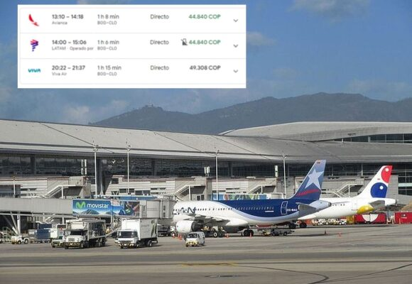 Con trayectos a $47 mil en temporada alta, aerolíneas enfrentan al Paro Nacional