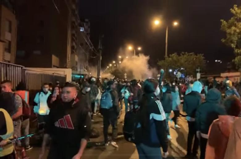 El ESMAD volvió a poner el vandalismo en las marchas