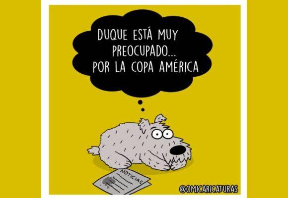 Caricatura: Duque y su preciada Copa América