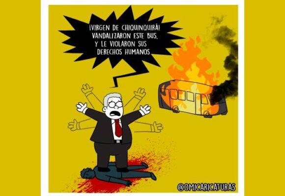 Caricatura: ¡Virgen de Chiquinquirá!