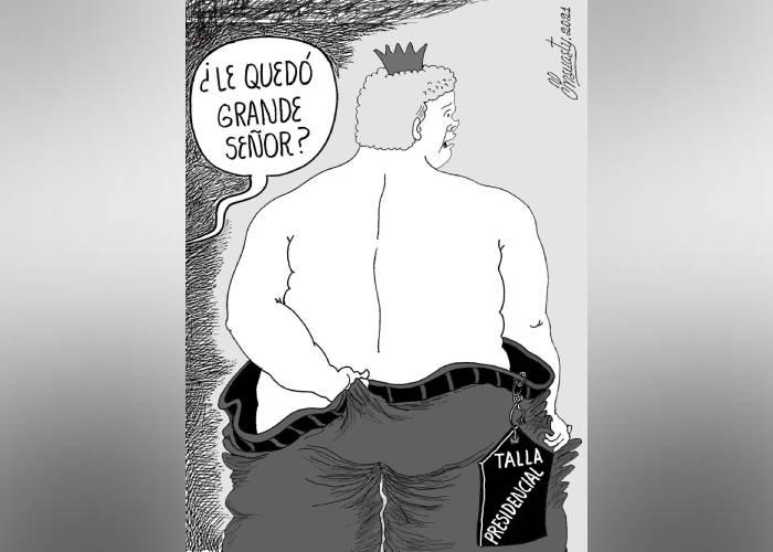 Caricatura: ¿Le quedó grande?