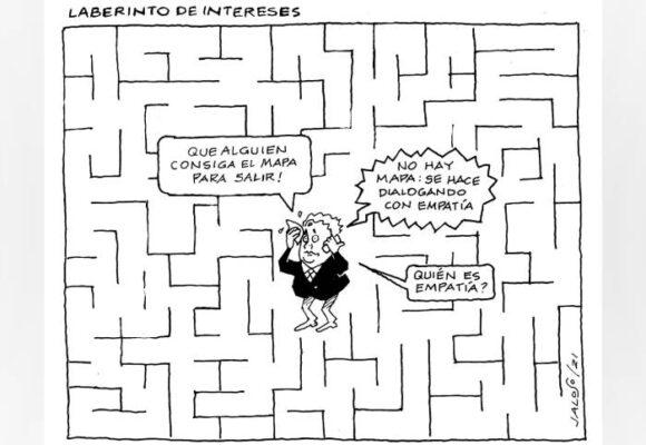 Caricatura: Laberinto de intereses