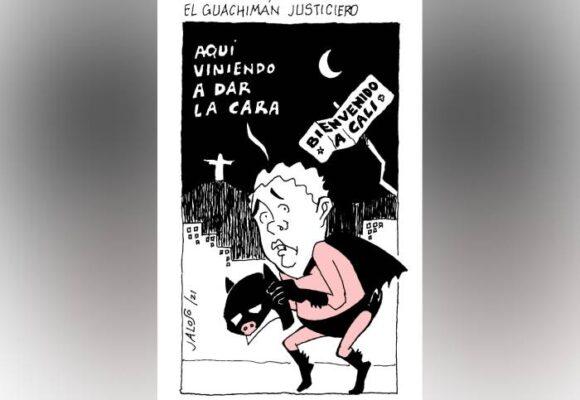 Caricatura: Guachimán justiciero