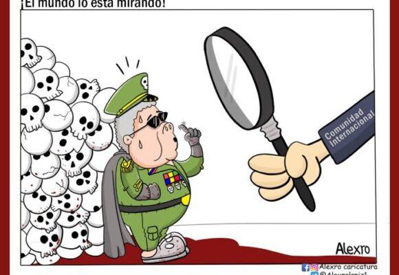 Caricatura: ¡El mundo lo está mirando!