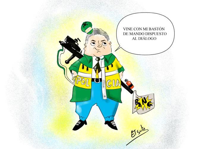 Caricatura: Bastón de mando