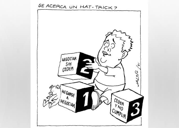 Caricatura: ¿Se acerca un hat-trick presidencial?