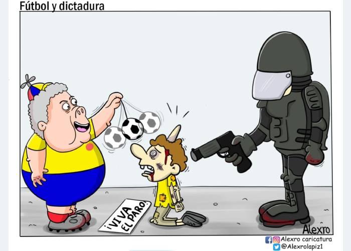 Caricatura: Fútbol y dictadura