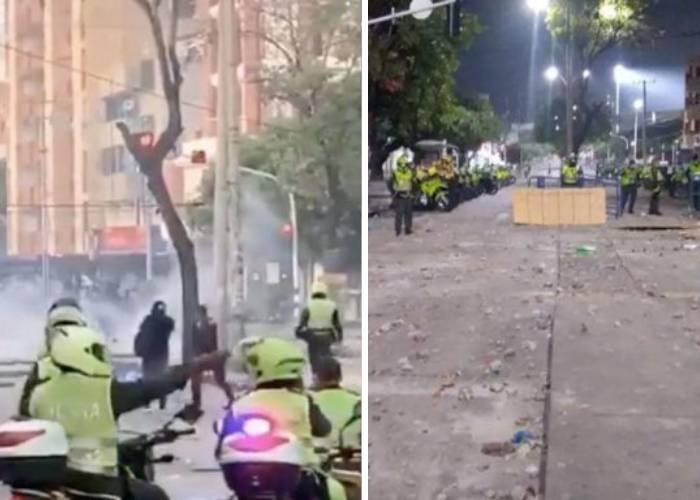 Marchas versus vandalismo en Barranquilla