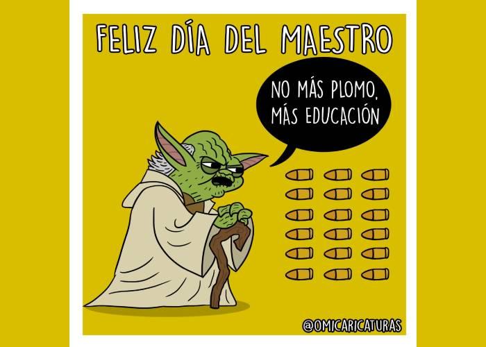 Caricatura: Feliz día del maestro