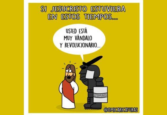 Caricatura: Si Jesucristo estuviera vivo en estos tiempos...