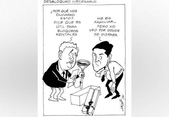 Caricatura: Desbloqueo necesario