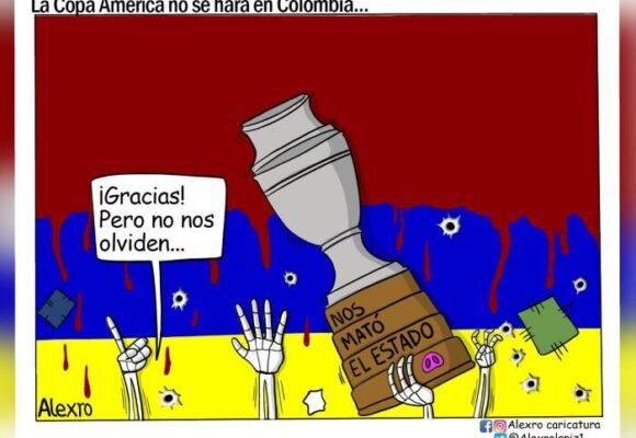 Caricatura: La Copa América no se hará en Colombia...