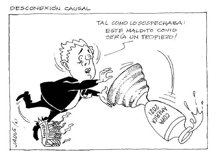 Caricatura: Desconexión causal