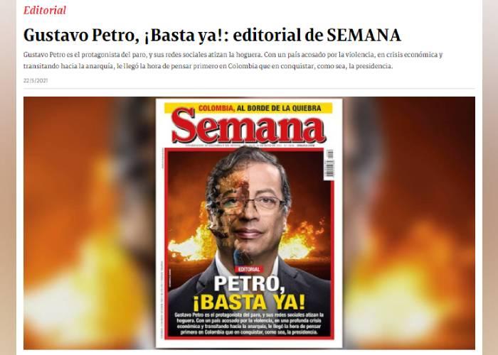 El malintencionado y mentiroso editorial de Semana