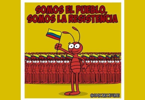 Caricatura: Somos el pueblo, somos la resistencia