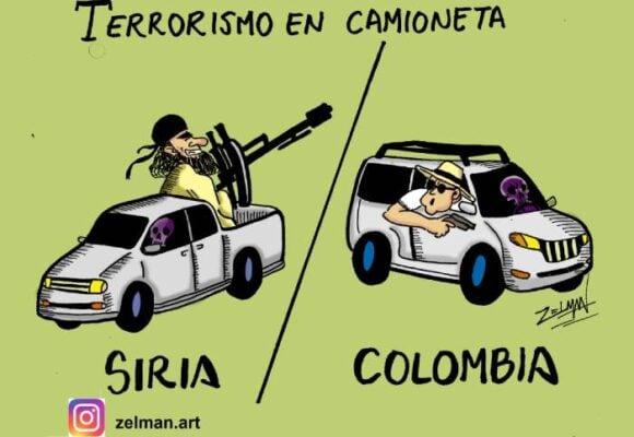 Caricatura: Terrorismo en camioneta