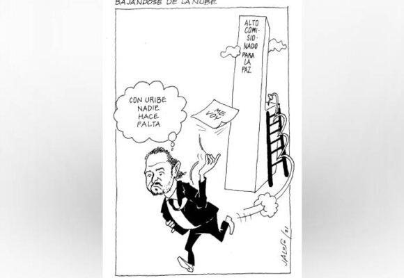 Caricatura: Bajándose de la nube