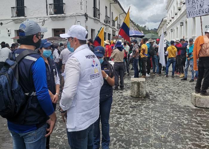 El paro nacional en el Cauca