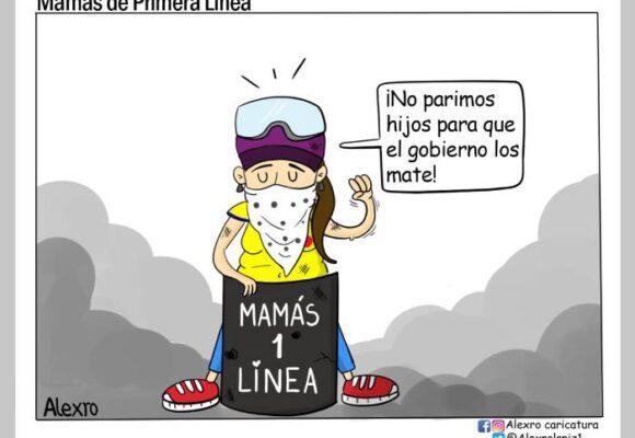 Caricatura: Mamás de primera línea