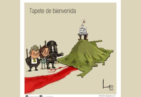 Caricatura: Tapete rojo de bienvenida para la CIDH