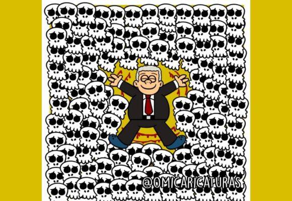 Caricatura: Nos están masacrando