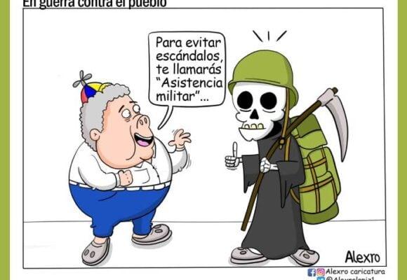 Caricatura: En guerra contra el pueblo