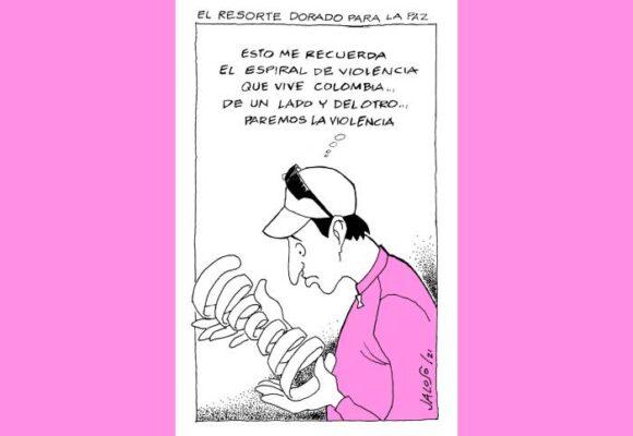 Caricatura: Resorte dorado para la paz