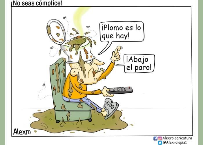 Caricatura: ¡No seas cómplice!