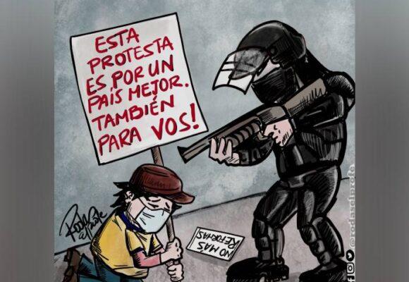 Caricatura: Entre colombianos no debemos enfrentarnos