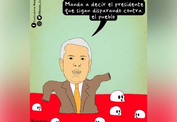 Caricatura: ¡Gobernantes asesinos!
