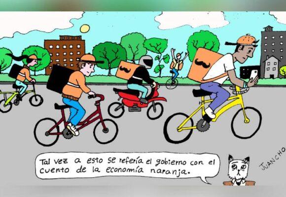 Caricatura: La economía naranja de Duque