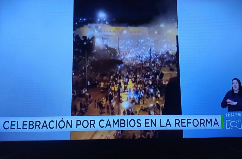 Según Noticias RCN en Cali celebran cambios de Duque a la Reforma Tributaria