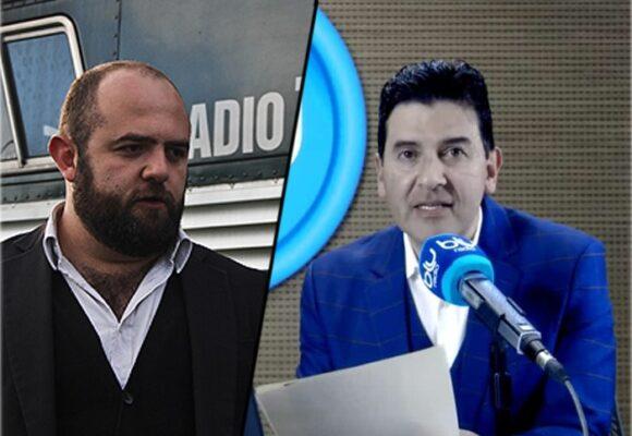 Santiago Rivas le da clase de periodismo a Nestor Morales