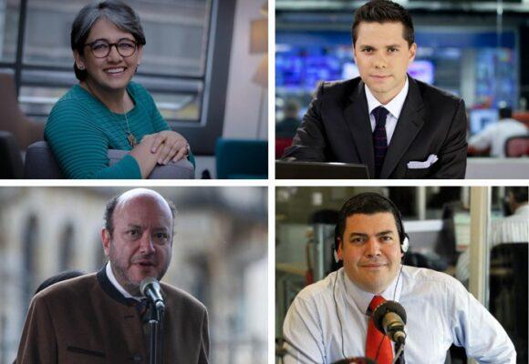 Yolanda Ruiz le da clases de periodismo a los demás directores de radio