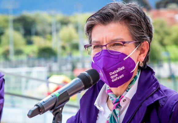 La alcaldesa de Bogotá no logró escaparse del Covid