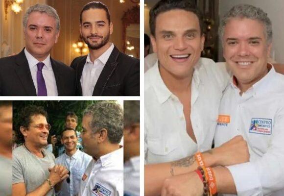 Silvestre, Maluma y Carlos Vives: los mejores amigos del presidente Duque