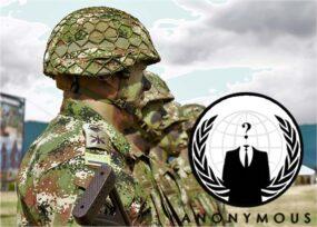 Anonymous se atribuye hackear al Ejército colombiano