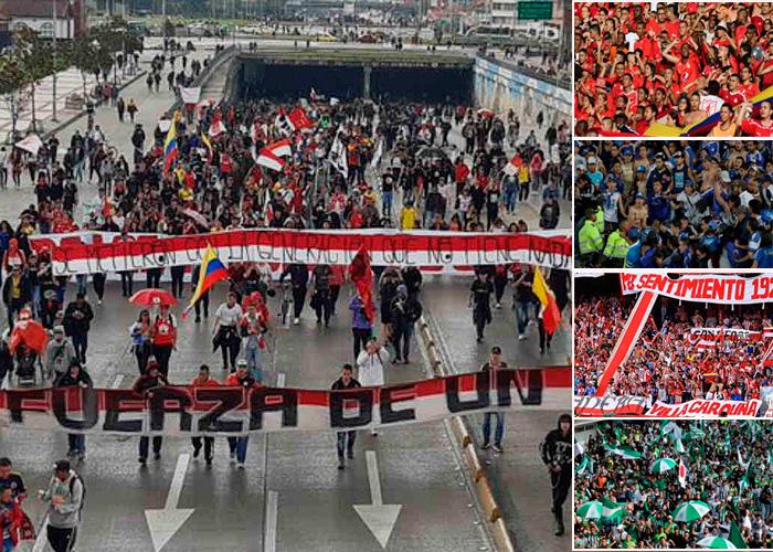 La protesta se le metió al futbol y las barras terminaron en las calles