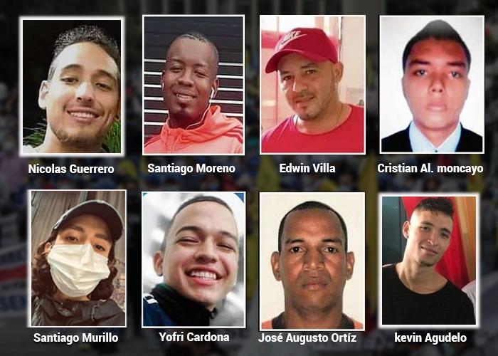 Nicolás Guerrero y otros 23 muchachos asesinados en las calles de Colombia