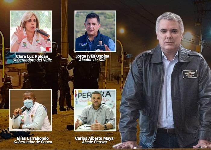 Los ocho gobernadores y 13 alcaldes que quedaron supeditados a los militares