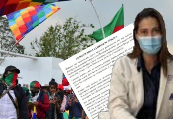 La doctora de Imbanaco le pide perdón a los indígenas