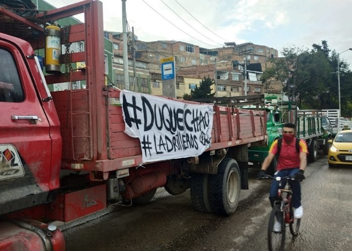 Estas vías de Colombia han sido bloqueadas por los camioneros