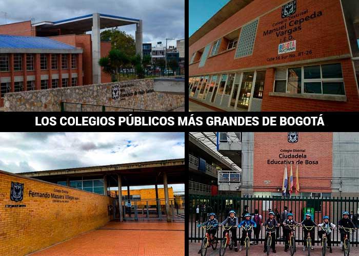 Los 5 colegios públicos más grandes de Bogotá que siguen cerrados
