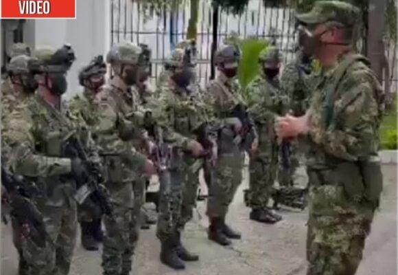 La arenga de Zapateiro a la tropa en las calles de Cali