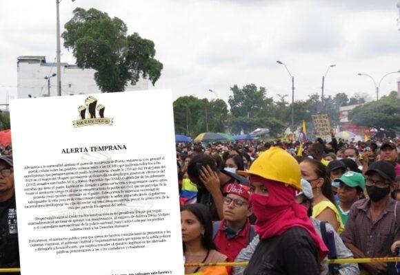 S.O.S desde Puerto Resistencia por posible acción de la Fuerza Pública