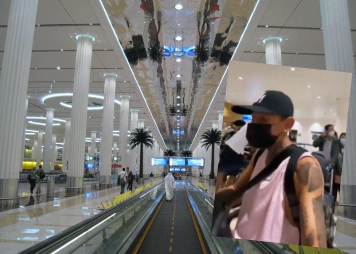Por su pinta, La Liendra es detenido en el Aeropuerto de Dubai