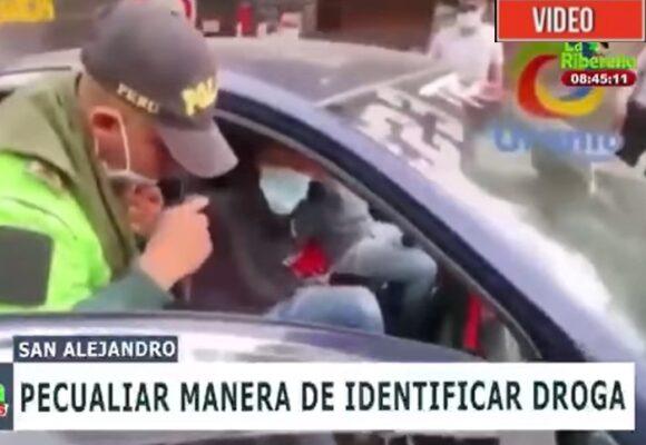 El pase de cocaína que un policía se pegó frente a las cámaras de un noticiero