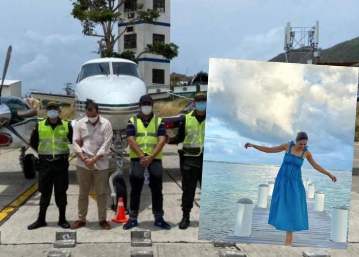 Las coincidencias de las vacaciones de Alejandra Azcárate con el avión de su esposo