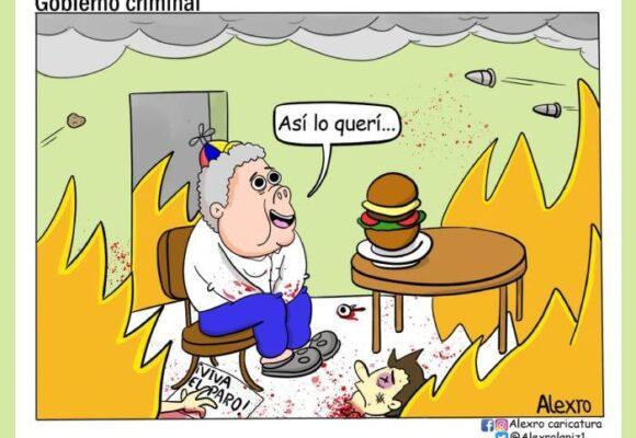 Caricatura: Gobierno criminal