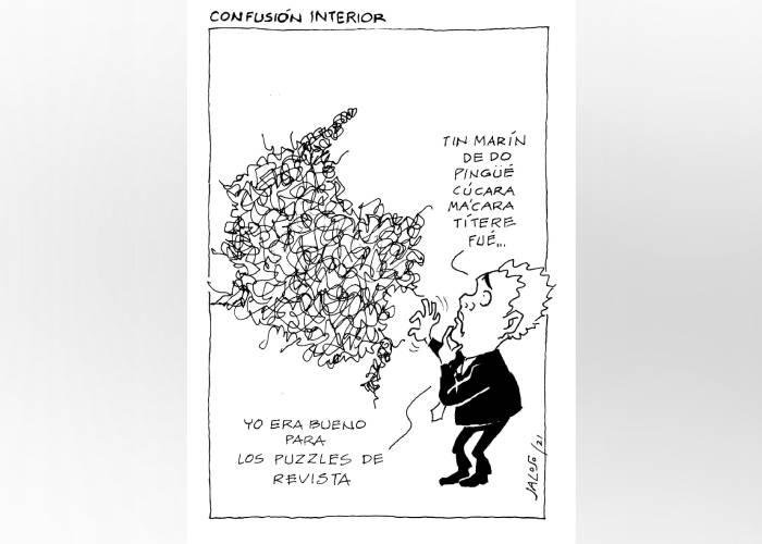 Caricatura: Confusión interior
